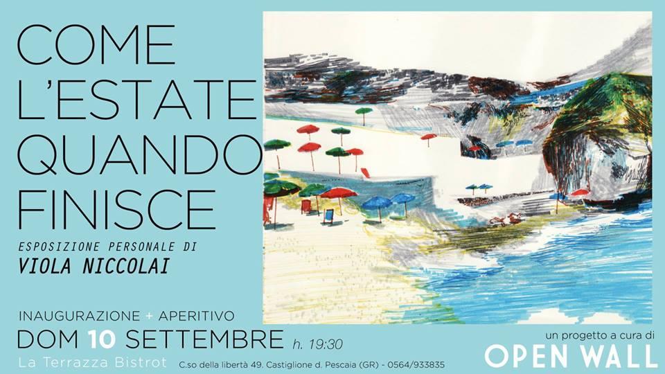 Viola Niccolai all'Open Wall della Terrazza a Castiglione della Pescaia