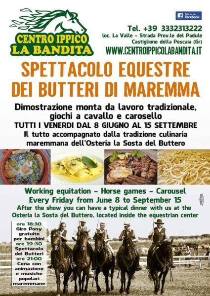 Spettacolo Equestre dei Butteri di Maremma