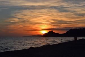 Rocchette tramonto in spiaggia
